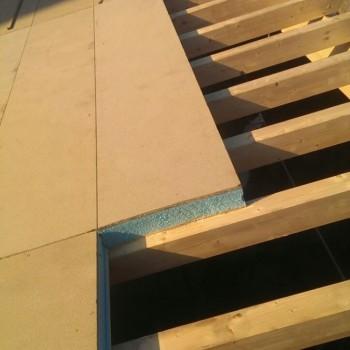 Colocación de panel aislante.
