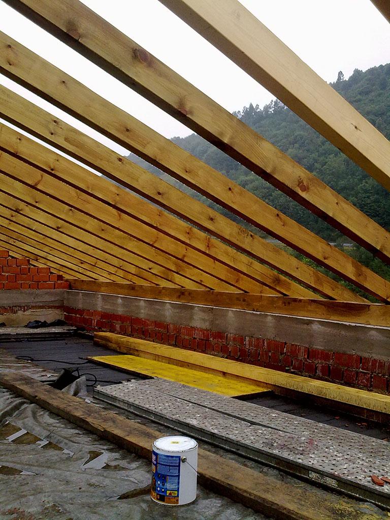 Forjado de madera cubiertas sos asturias - Forjados de madera laminada ...